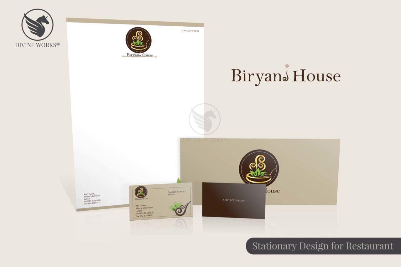 Biryani House Stationary Design By Divine Works