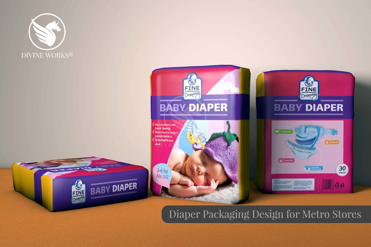 Metro Diaper Packaging Design By Divine Works