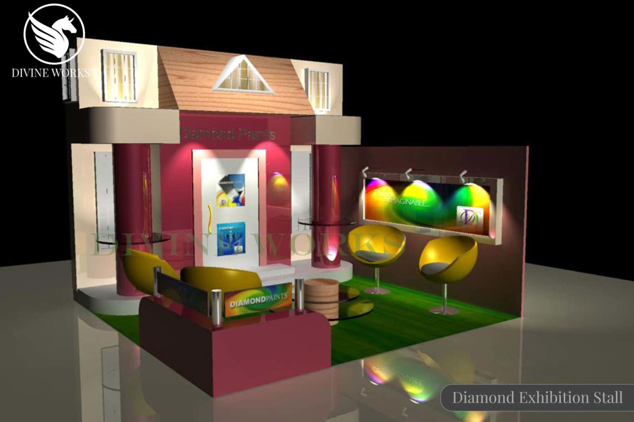 Diamond Paints Exhibition Stall Design By Divine Works