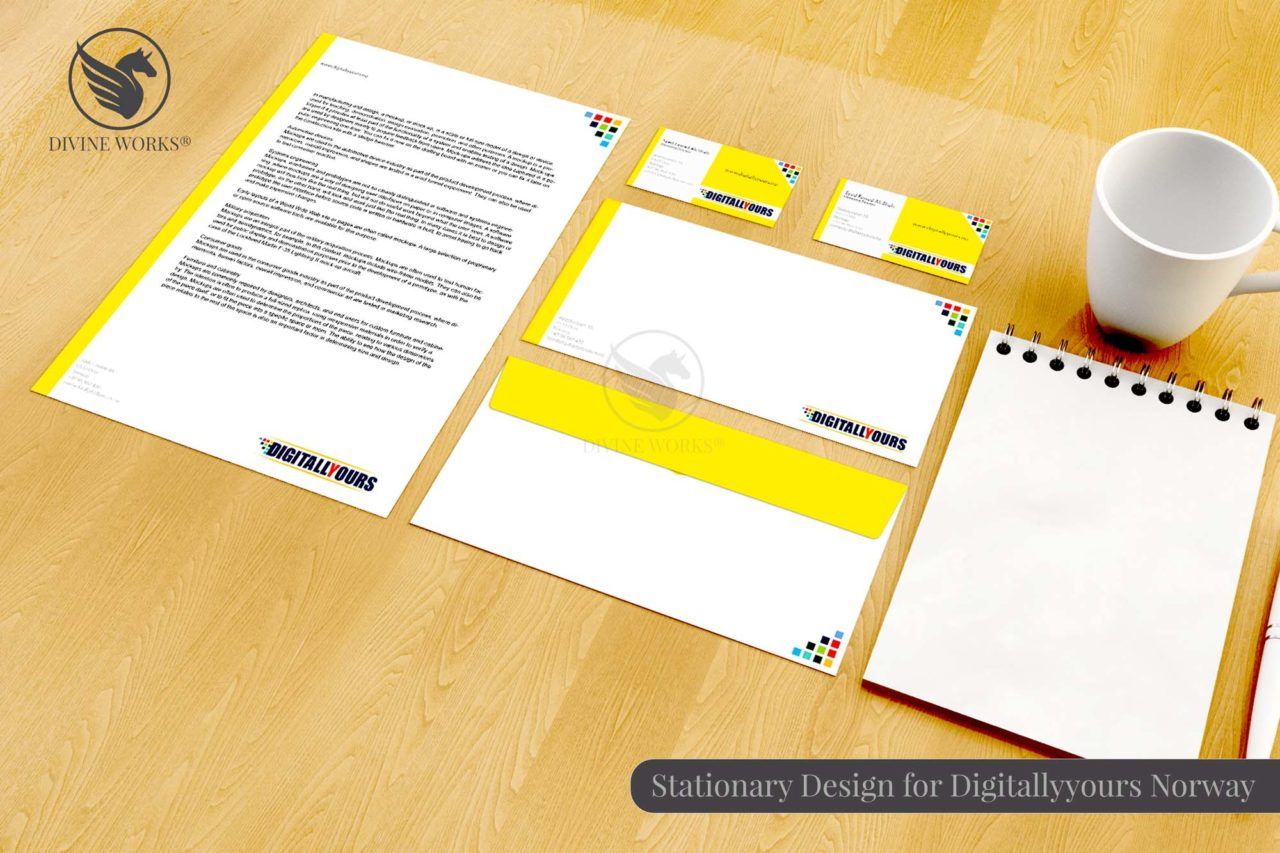 Digitally Yours Stationary Design By Divine Works