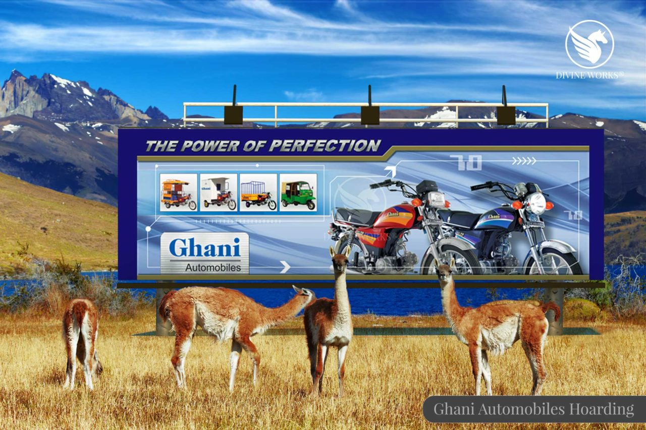 Ghani Automobiles Hoarding Design By Divine Works
