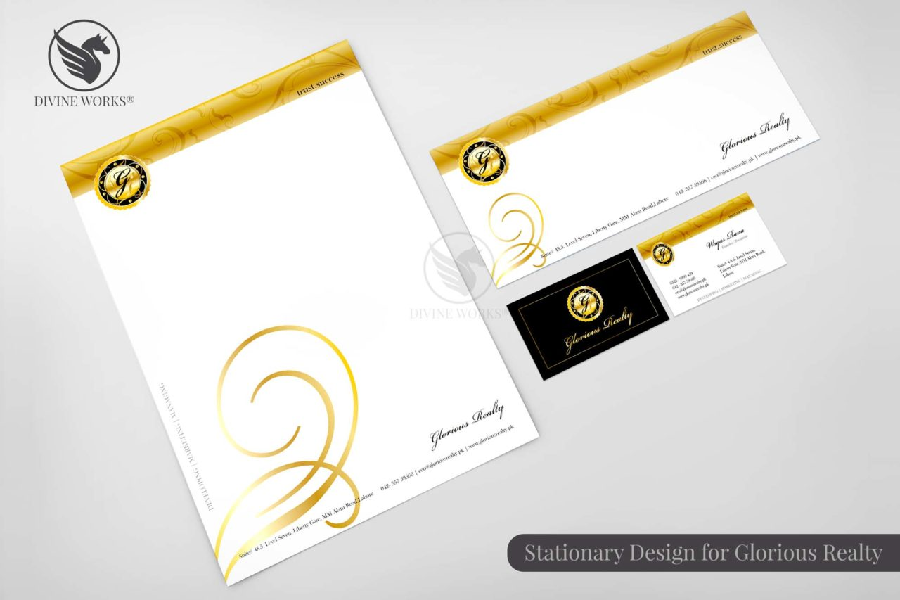 Glorious Realty Stationary Design By Divine Works