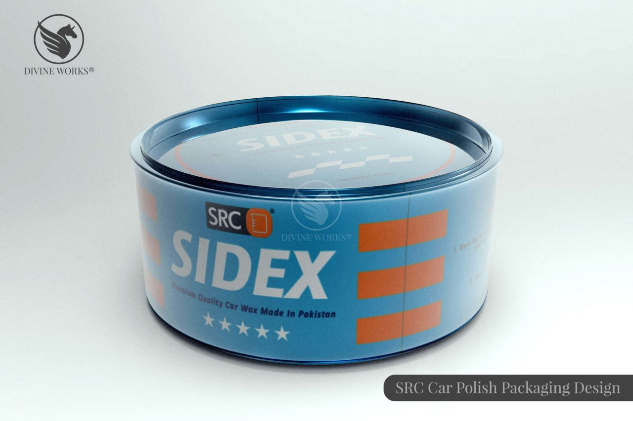 SRC Sidex Car Polish Packaging Design by Divine Works