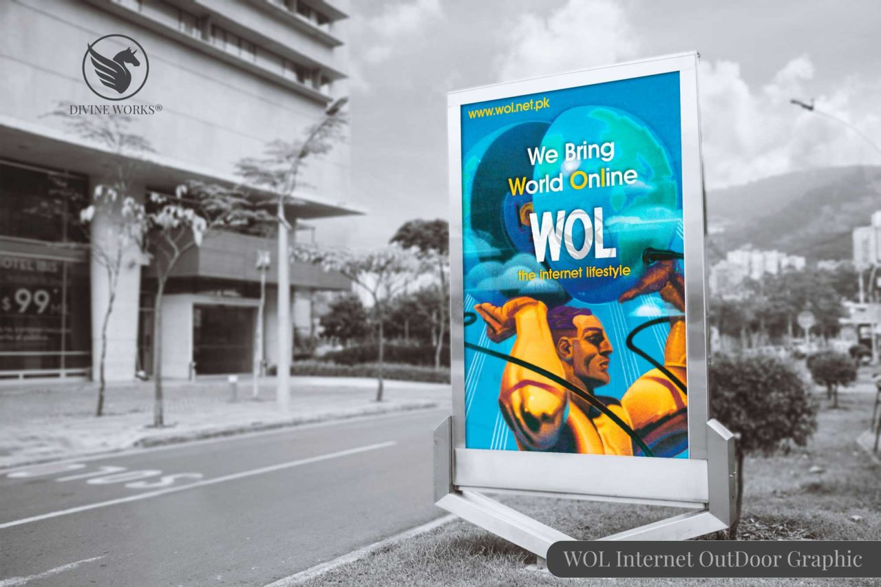 WOL Internet Outdoor Advertisement Design by Divine Works