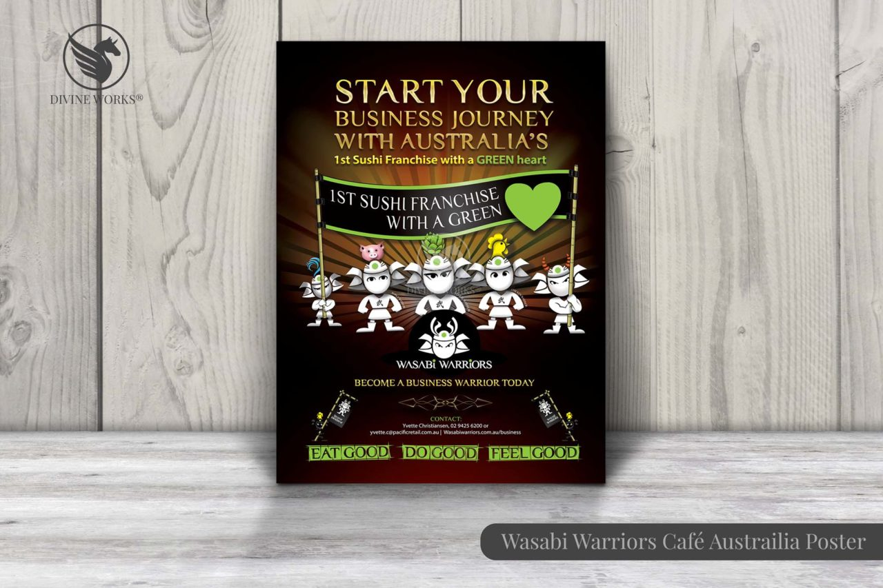 Wasabi Warriors Poster Design By Divine Works
