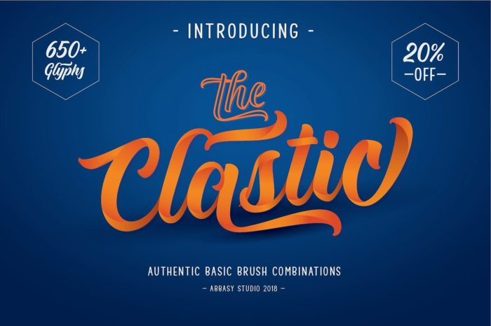 The Clastic - Abeautiful font for graphic designers