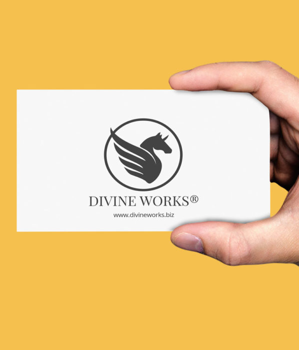 Hand Business Card Mockup by Divine Works
