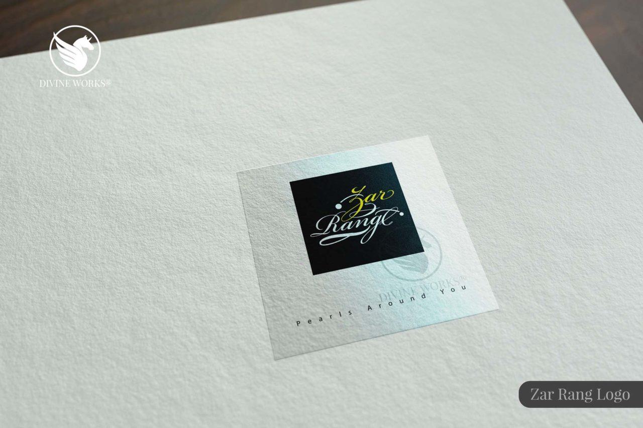 Zar Rang Logo Design By Divine Works