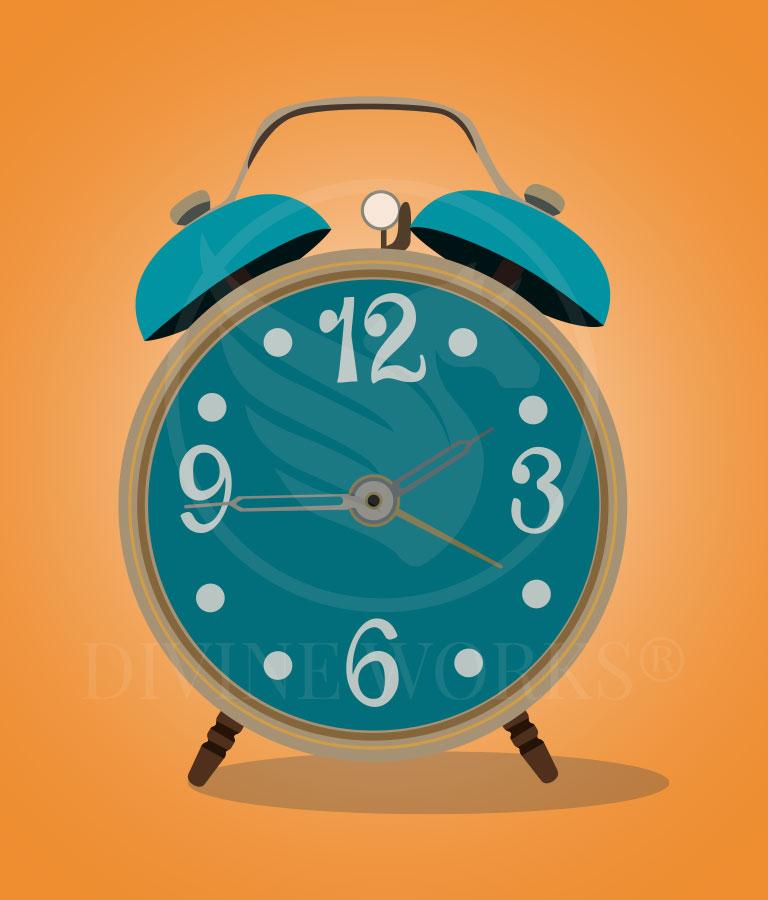 Free Alarm Clock Adobe Illustrator Vector Illustration by Divine Works