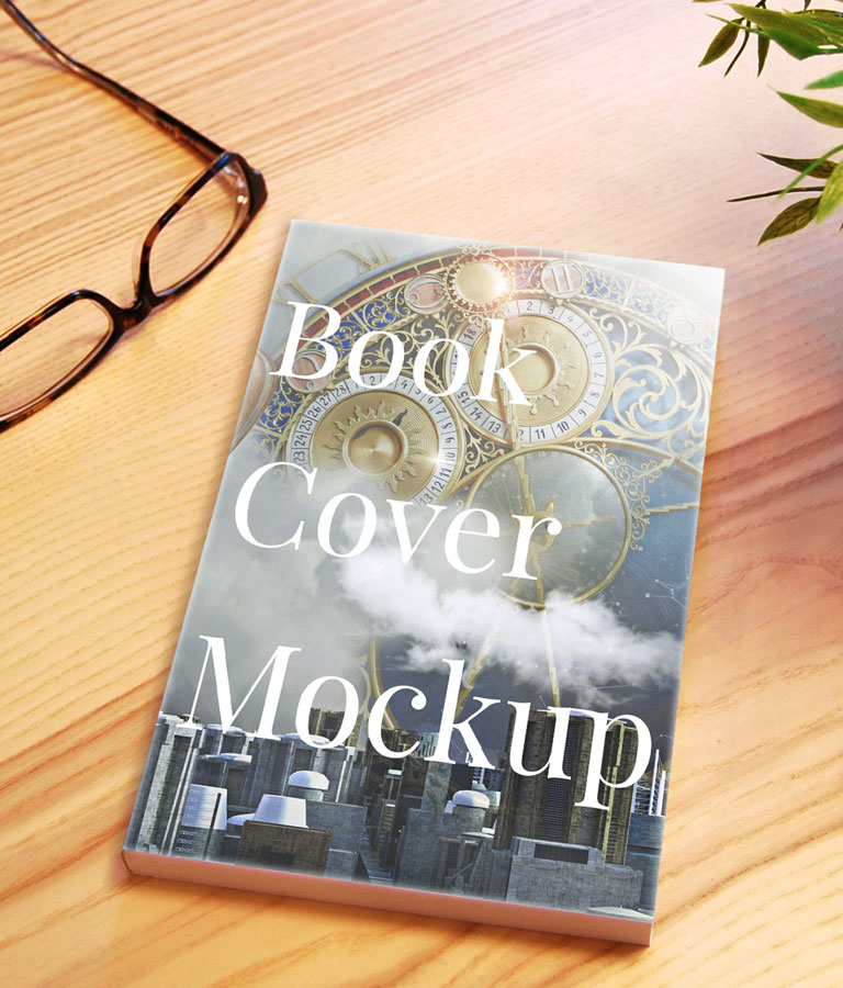 Free Title Book Cover Mockup by Divine Works