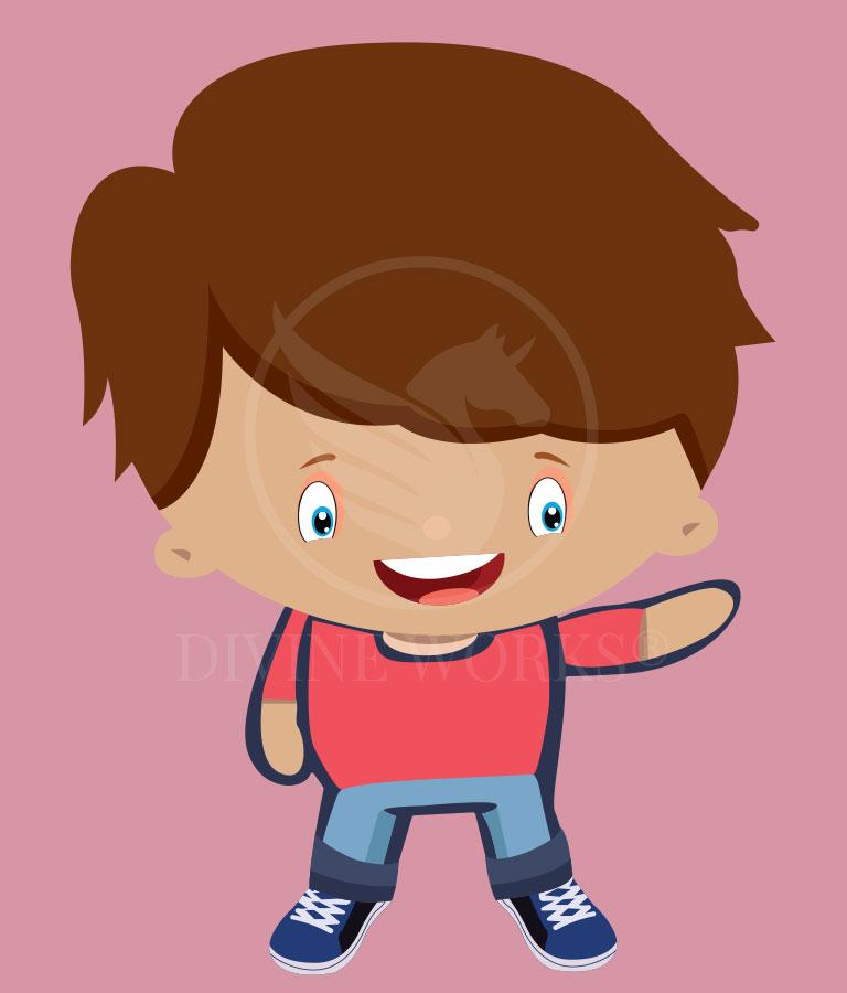 Free Vector Boy Adobe Illustrator Vector Illustration by Divine Works
