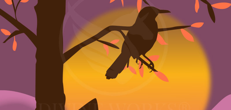 Free Sunset Bird Adobe Illustrator Vector Illustration by Divine Works