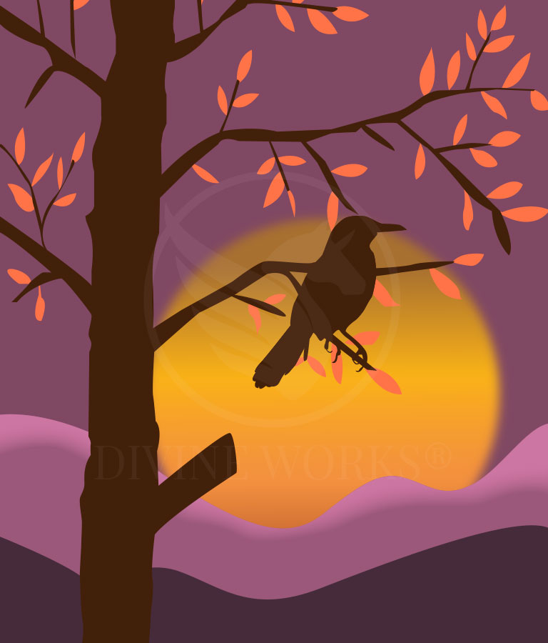 Free Sunset Bird Adobe Illustrator Vector Illustration by Divine Works