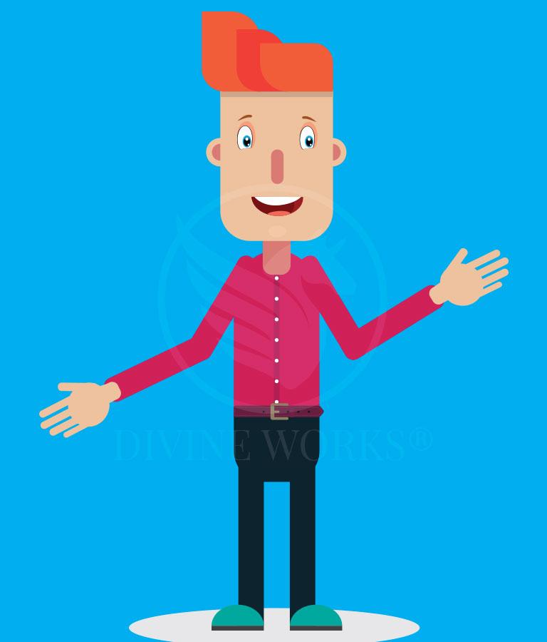 Free Vector Boy Character Adobe Illustrator Vector Illustration by Divine Works