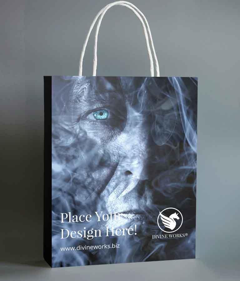 Free Black Shopping Bag Mockup by Divine Works