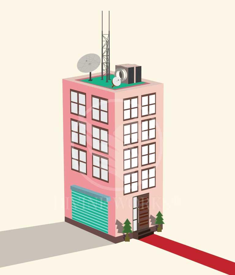 Free Adobe Illustrator Vector Building Illustration by Divine Works
