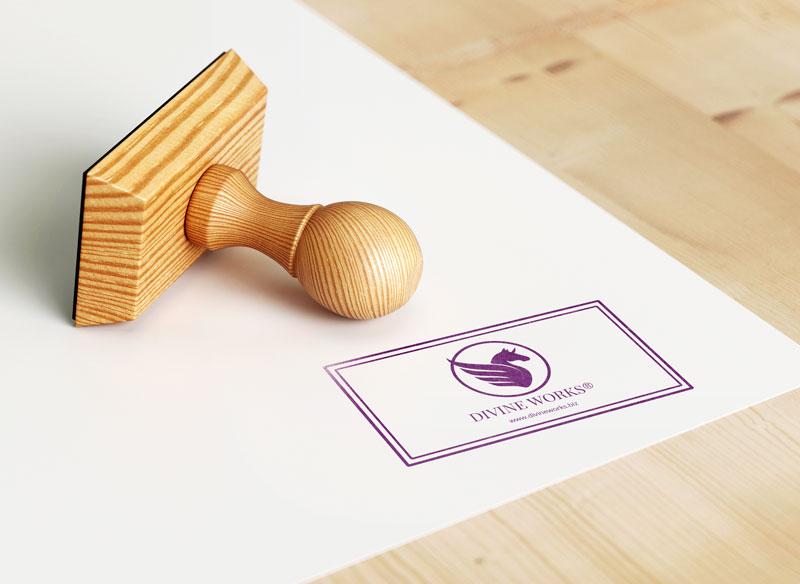 Free Rubber Stamp Logo Mockup by Divine Works
