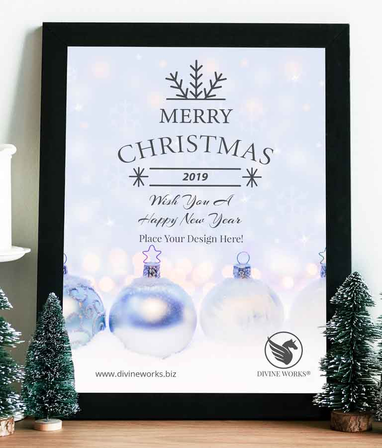 Free Christmas Poster Mockup by Divine Works