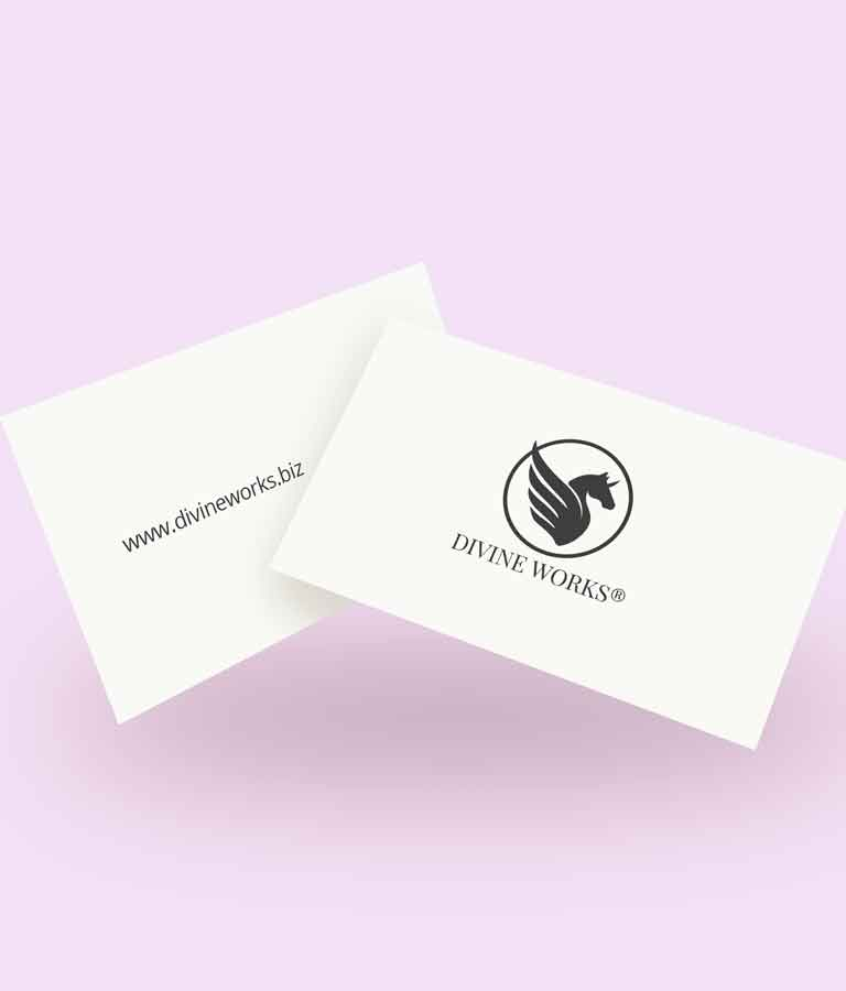 Free Two Floating Business Cards Mockup by Divine Works