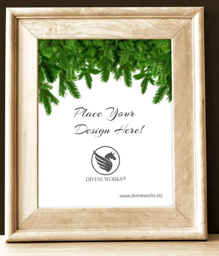 Free Wooden Picture Frame Mockup by Divine Works