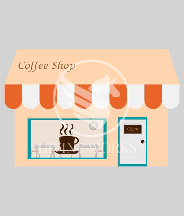Free Adobe Illustrator Coffee Shop Vector Illustration by Divine Works