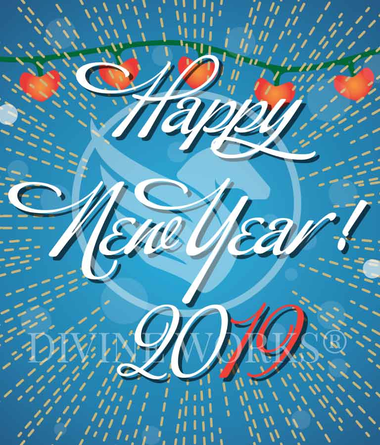 Free Adobe Illustrator New Year Vector Illustration by Divine Works