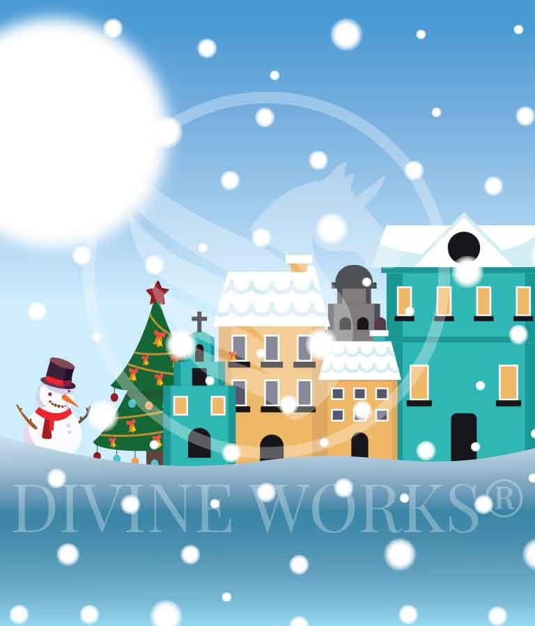Free Adobe Illustrator Vertical Christmas Banner Vector Illustration by Divine Works