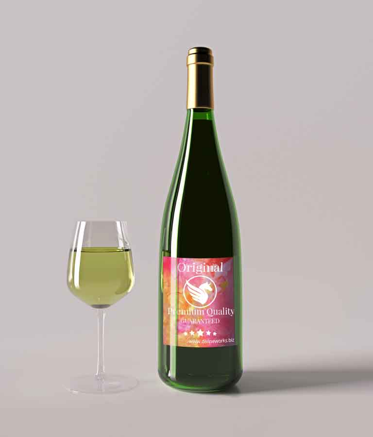 Free Wine Bottle Label Mockup by Divine Works