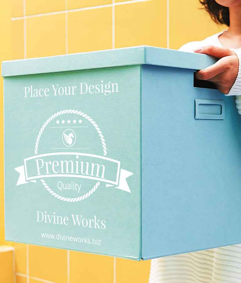 Free Cardboard Box Mockup by Divine Works