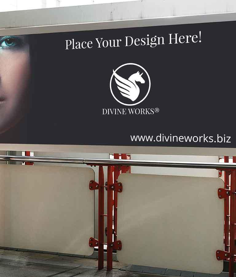 Free Public Place Billboard Mockup by Divine Works