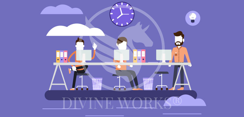 Free Adobe Illustrator Co-Workers Vector Illustration by Divine Works