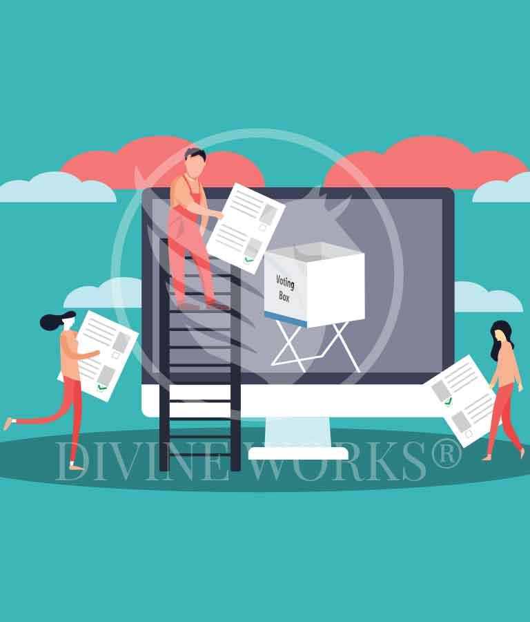 Free Adobe Illustrator Online Voting Vector Illustration by Divine Works