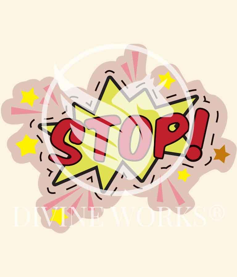 Free Adobe Illustrator Stop Badge Vector Illustration by Divine Works