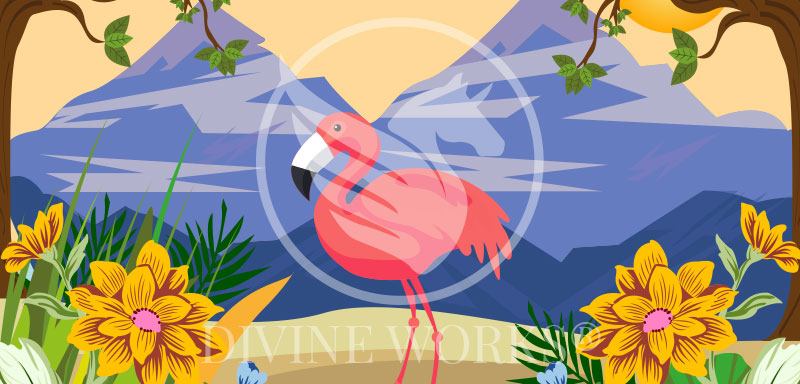 Free Adobe Illustrator Flamingo Vector Illustration by Divine Works