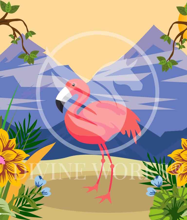 Free Adobe Illustrator Flamingo Vector Illustration by Divine Works