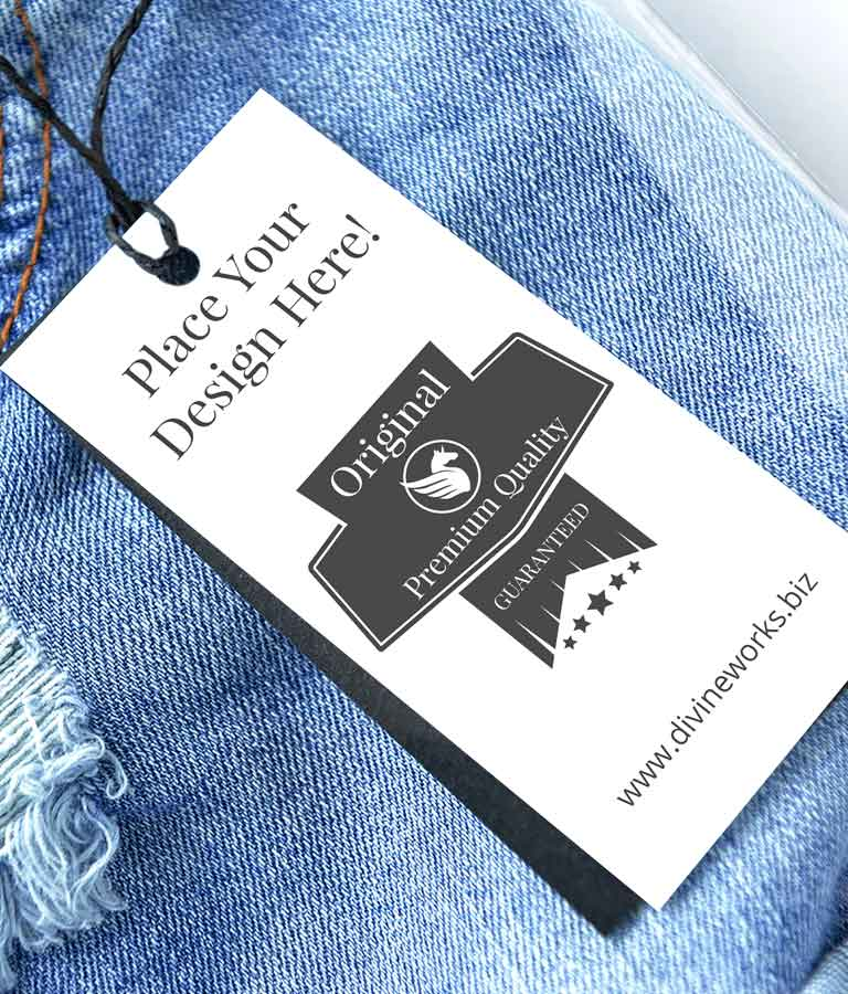 Free Jeans Label Mockup by Divine Works