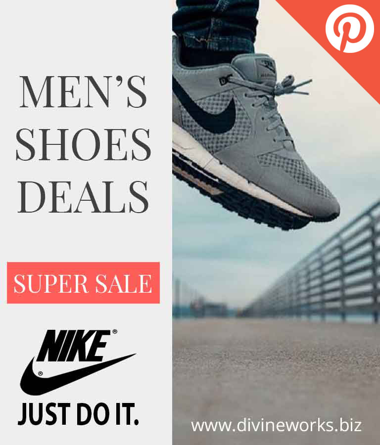 Free Shoes Sale Pinterest Post Templates by Divine Works