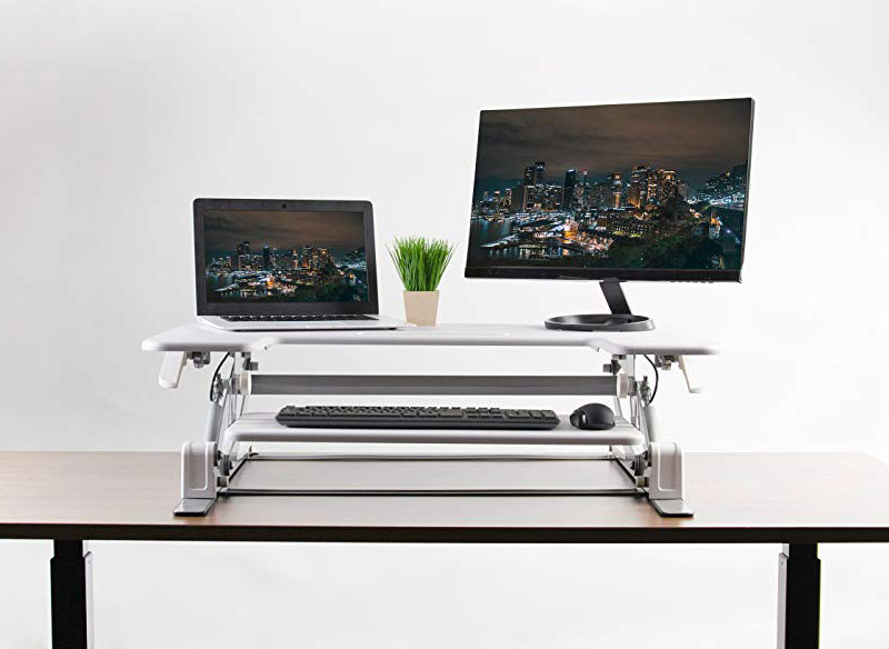 Vivo White Height Adjustable Stand