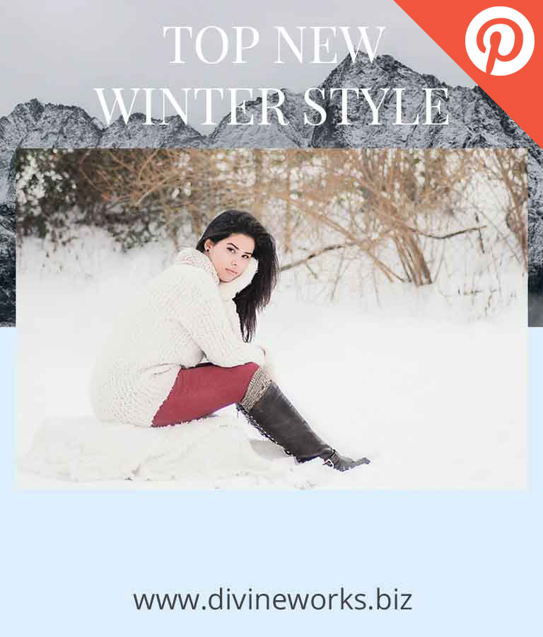 Free Winter Style Pinterest Post Templates by Divine Works