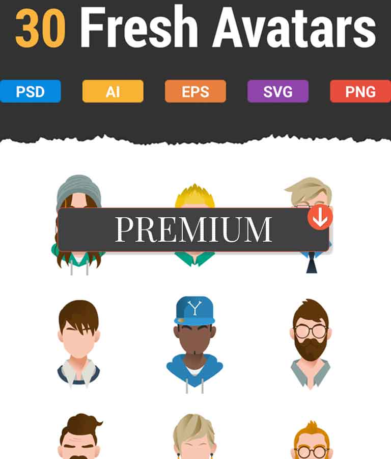 30 Fresh & Modern Avatars