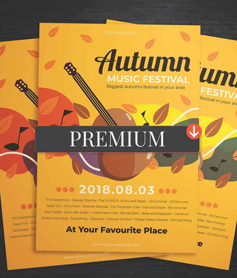 Autumn Music Festival Flyer