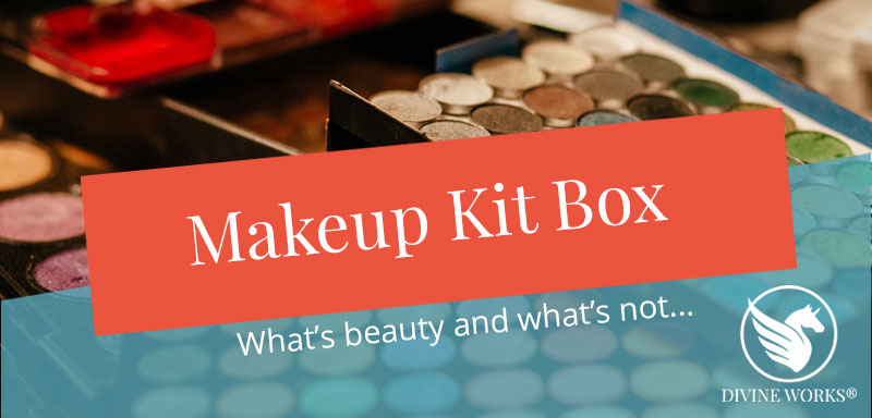 Free Makeup Kit Facebook Cover Photo Template by Divine Works