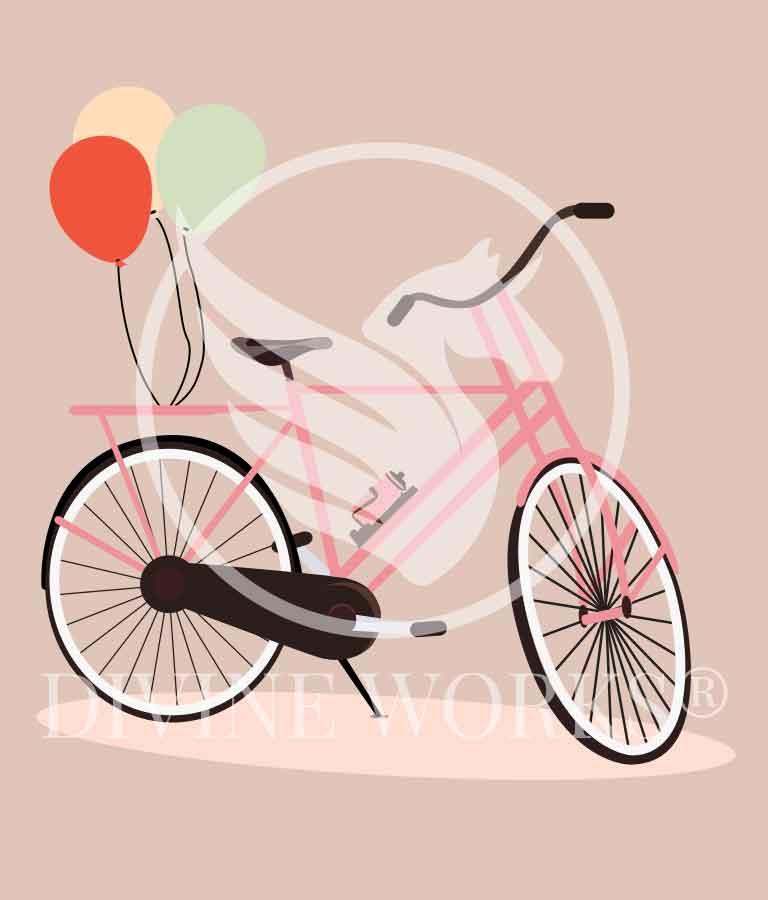 Free Adobe Illustrator Cartoon Bicycle Vector Illustration by Divine Works