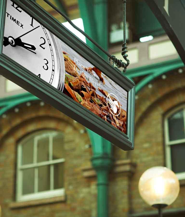 Free Hanging Sign Mockup