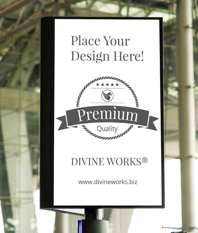 Free Pole Sign Mockup by Divine Works