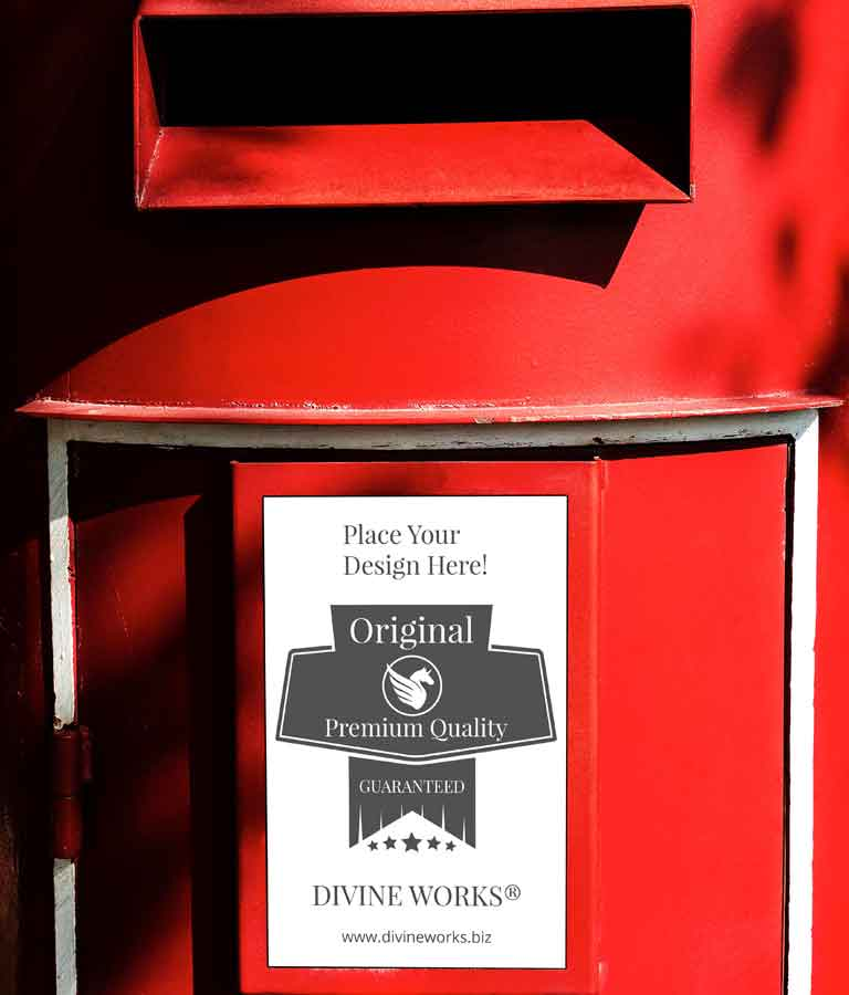 Free Red Post Box Mockup by Divine Works