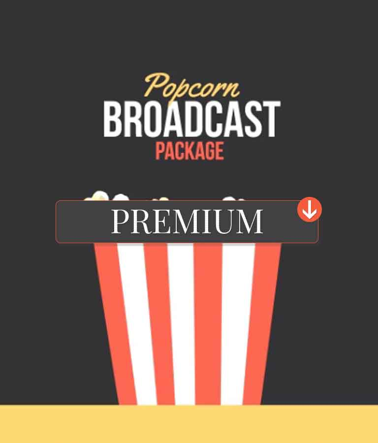 Popcorn Broadcast Package Essential Graphics | Mogrt