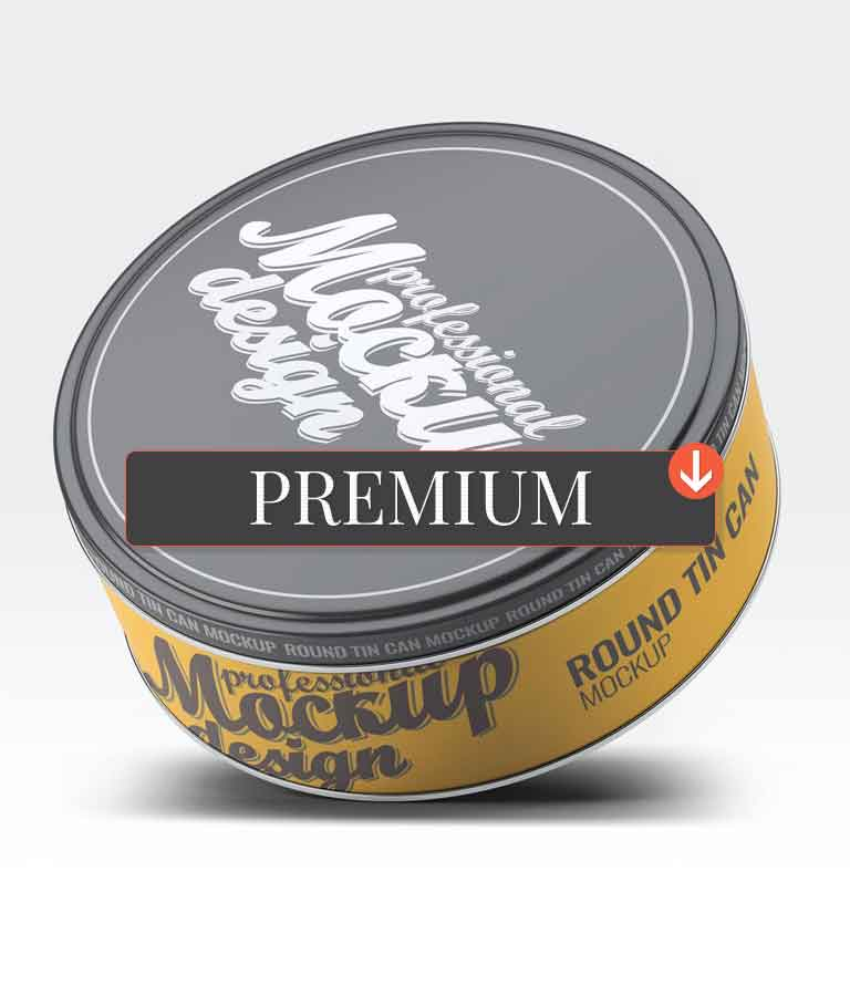Round Tin Can Mock-Up