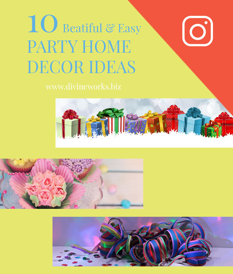 Free Party Decorate Instagram Post Template
