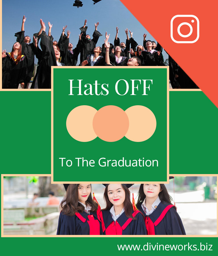 Free Graduation Instagram Post Templates by Divine Works